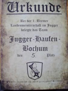Urkunde Bremen