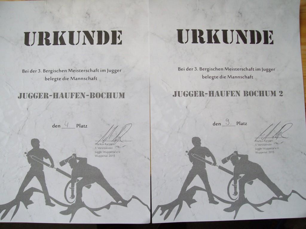 Urkunde Wuppertal